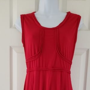 Studio M red dress size M EUC